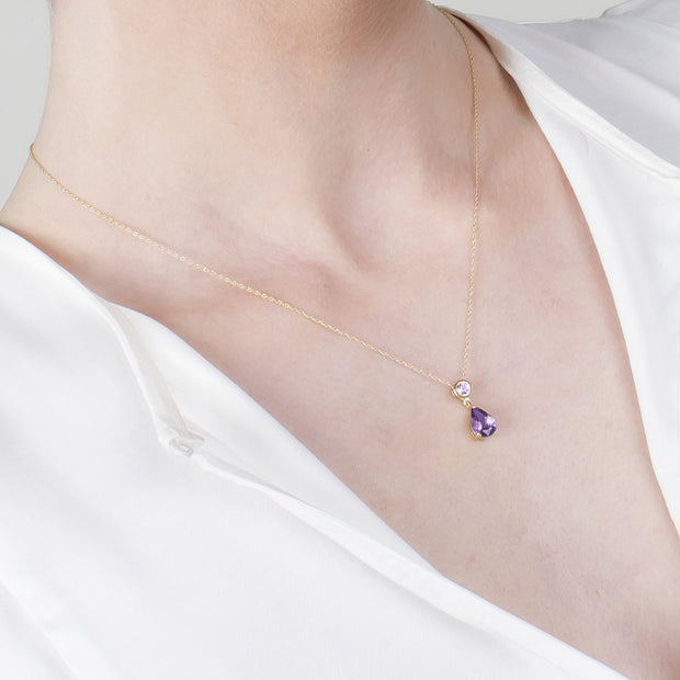 Classic Amethyst Pendant on Chain Image 3