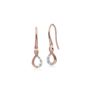 Classic Diamond Twist Drop Earrings Image 1
