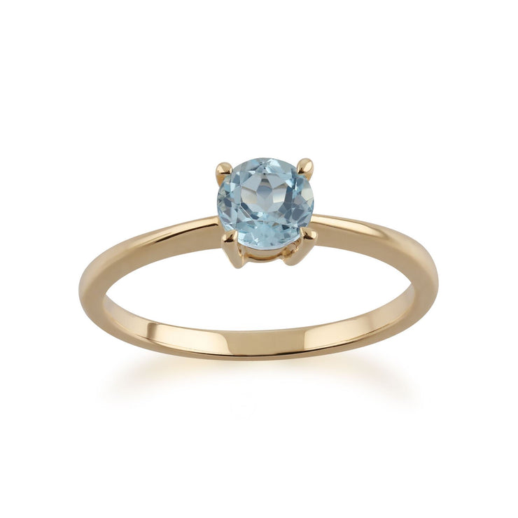 Gemondo 9ct Yellow Gold Topaz Round Cut Single Stone Ring