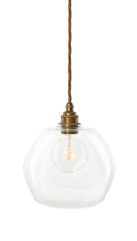 The Charlotte Clear - hand-blown glass pendant