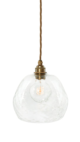 The Charlotte Diamond - hand-blown glass pendant