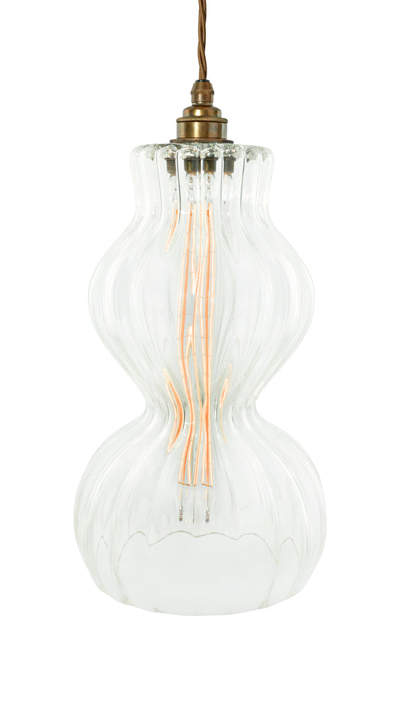 The Dorchester - hand-blown glass pendant