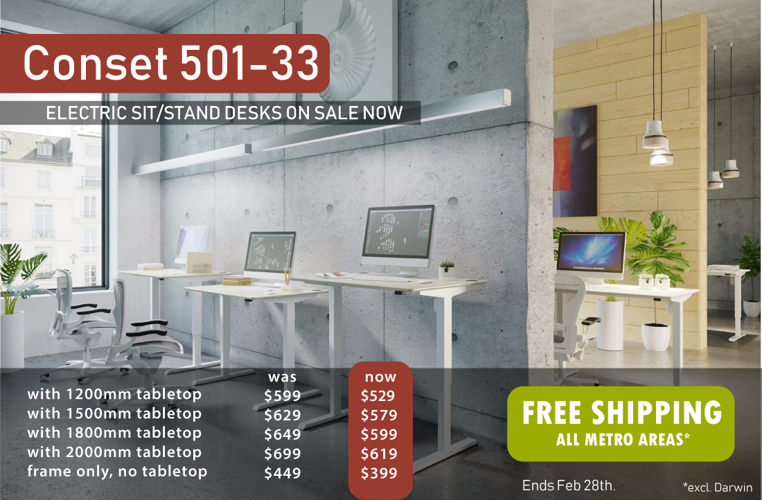 Conset 501-33 Electric Sit Stand Desk Sale
