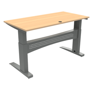 Conset 501-11 Heavy Duty Sit Stand Desk  Beech Top 160x80cm