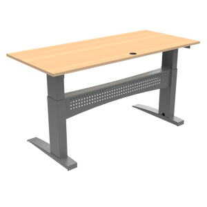 Heavy Duty Standing Desk Conset 1800x800mm Beech Top  501-11