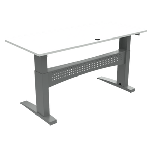 Heavy Duty Stand Up Desk Conset 501-11 White Top 180x80cm