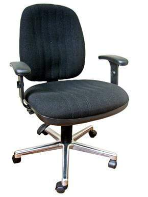 Bariatric Ergonomic Chair with Arms and Chrome Base