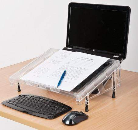 Compact Microdesk Ergonomic Inline Document Holder Writing Slope
