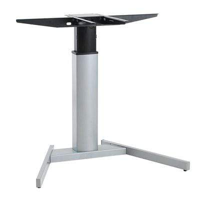 501-19 Single Column Sit Stand Frame with Basic Base in Silver