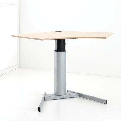 Single Column Sit Stand Desk with Basic Base and 120 Corner Top