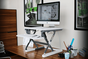 Sit Stand Desks Small / White Arise Deskalator Height Adjustable Standing Desk Riser