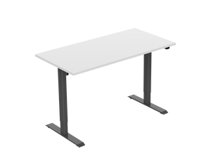 White / 1200x800mm / White Standwell Electric Sit/Stand Desk Height Adjustable Standing Desk