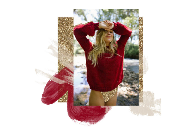 Your Favourite Knit: The Renzo Knit in the Red hue