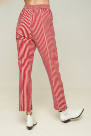 Tennesse Pant - WINE STRIPE - SAMPLE
