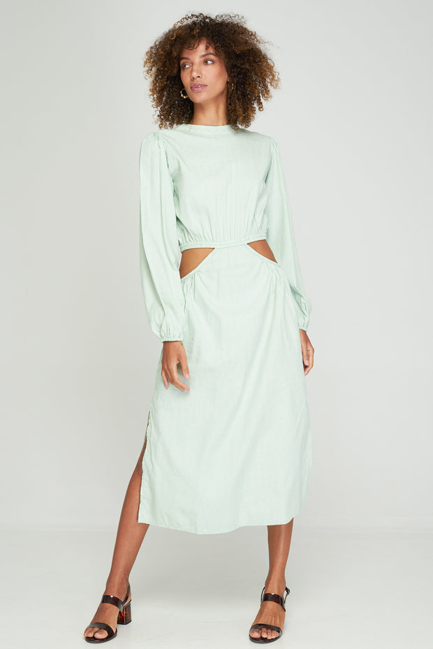 LEAH CUT-OUT DRESS - SPEARMINT