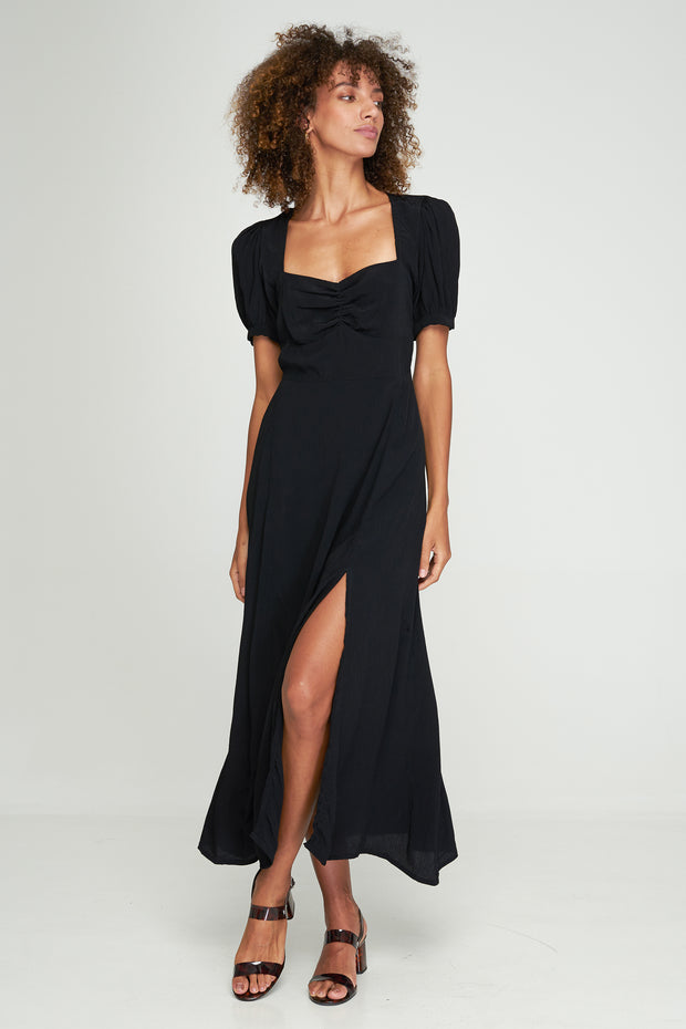 MAYA SPLIT DRESS - BLACK