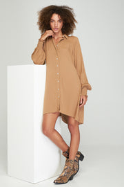 Adaline Shirt Dress - Camel