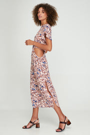 LINA CUT-OUT DRESS - MONET FLORAL - WOODSTOCK