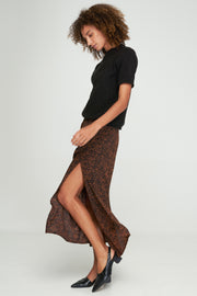 KINSLEY SPLIT SKIRT - KATE LEOPARD - WOODSTOCK