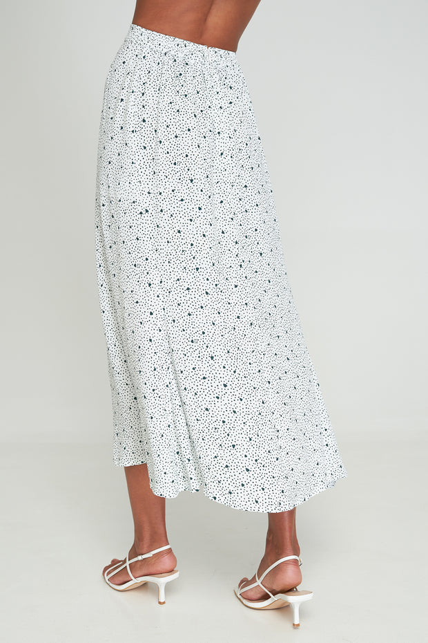 KINSLEY SPLIT SKIRT - PIECE OF MY HEART - WHITE