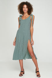 PRE-ORDER Piper Split Dress - Basil Stripe