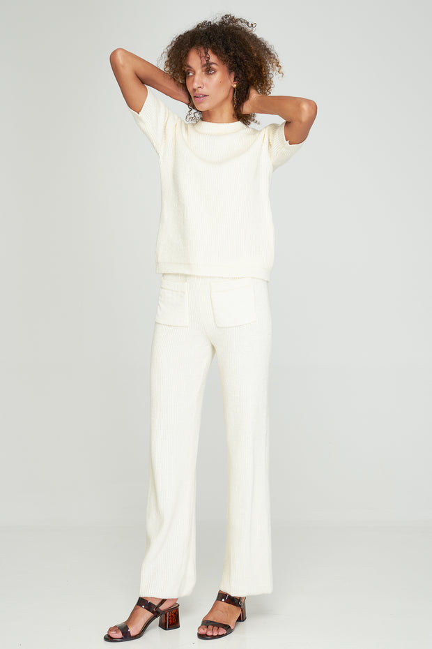 JILL KNITT TEE - Off White
