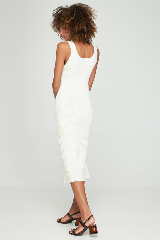 DAYLE KNIT DRESS - Off White