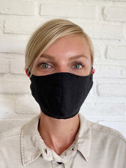Black Linen Mask Casing