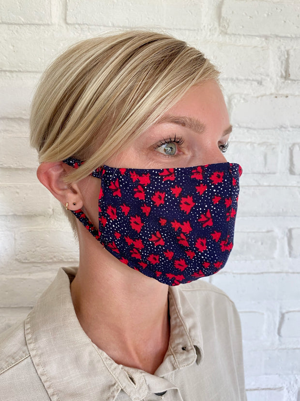 Pansy Spot Viscose Mask Casing