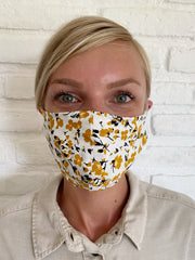 Golden Desert Floral Viscose Mask Casing