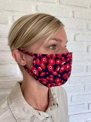 Poppy Red Pansy Viscose Mask Casing