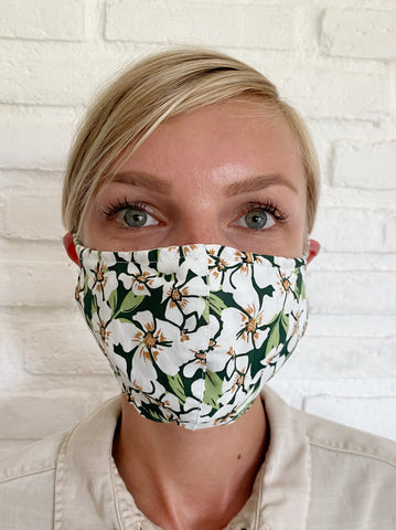 Pre Order - Light Monet Floral Viscose Mask Casing