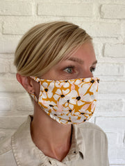 Tobacco Posy Viscose Mask Casing