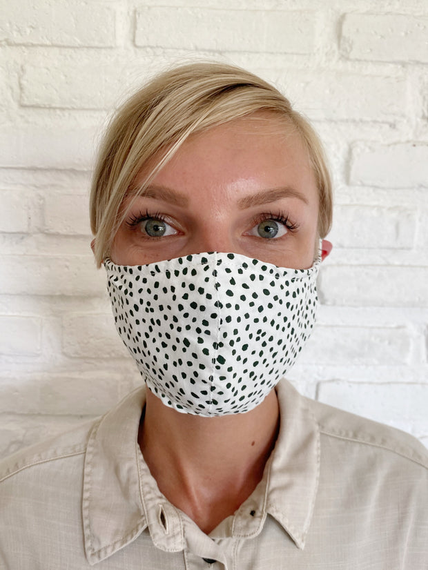 Emerald Confetti Viscose Mask Casing