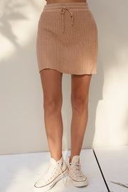 Amia Mini Skirt - Latte