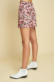 PATTI MINI SKIRT - MONET FLORAL - DARK
