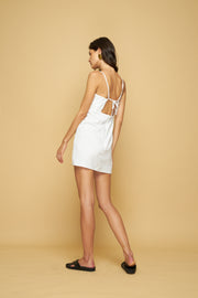 LEWIS MINI DRESS - WHITE