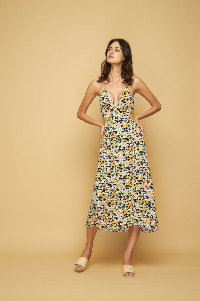 SHANNON DRESS - MONET FLORAL - LIGHT