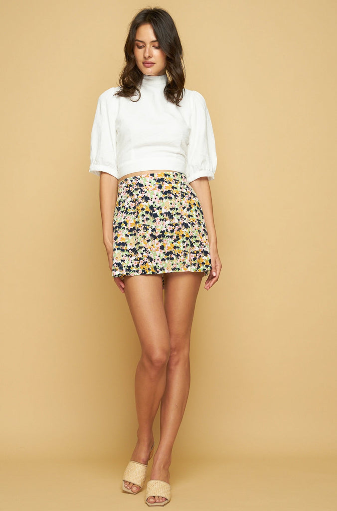 PATTI MINI SKIRT - MONET FLORAL - LIGHT