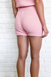 EVY KNIT SHORT - PINK
