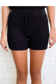 EVY KNIT SHORT - BLACK