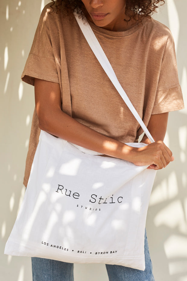 Rue Stiic Tote Bag - White