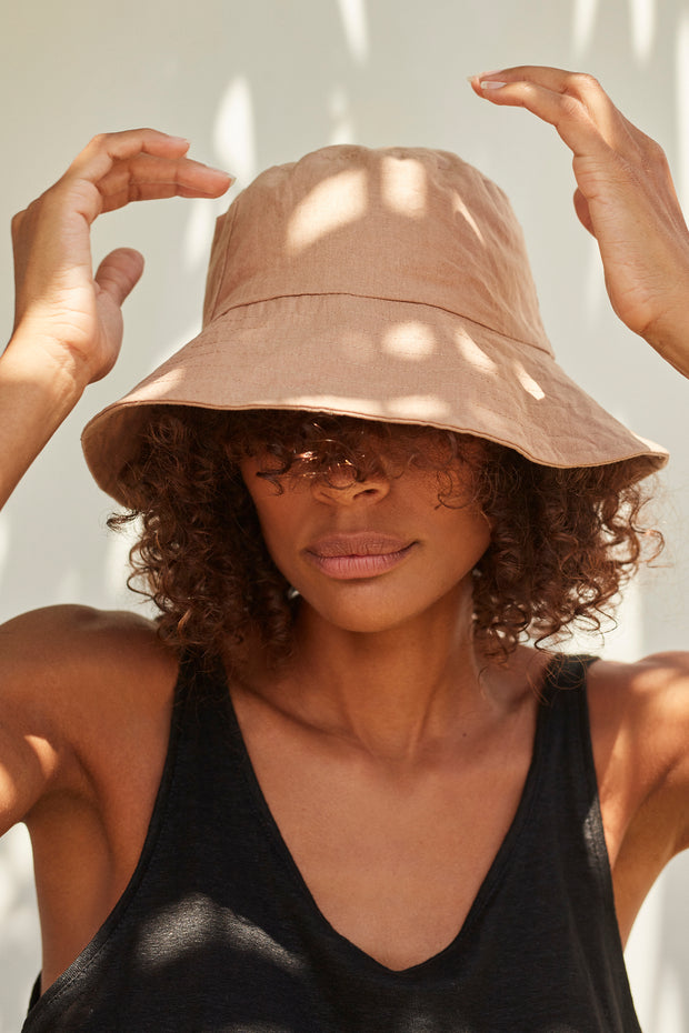 Small Bucket Hat - Sand