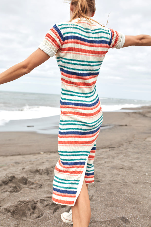 IRIS KNIT MAXI DRESS - YVES STRIPE