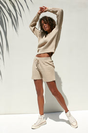 MIA KNIT SHORT - SAND