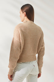 Novah Knit - Latte White Mix