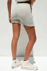 EVY KNIT SHORT - WARM GREY