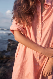 ISLA SHIRT DRESS - PEACH