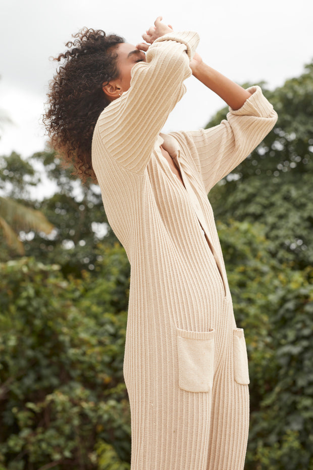 PHOENIX KNIT WORKSUIT - SAND