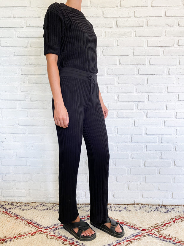 SHAE KNIT PANT - BLACK